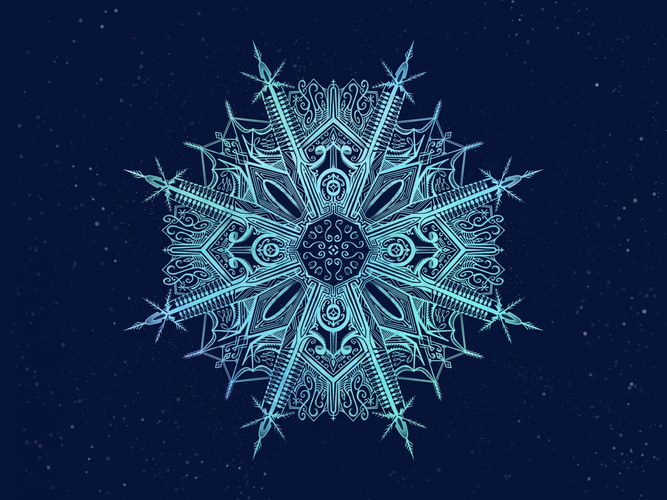 Hand-drawn Snowflake